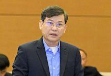 Viện trưởng VKSND tối cao Lê Minh Trí phát biểu tại phiên họp. Ảnh: Gia Hân